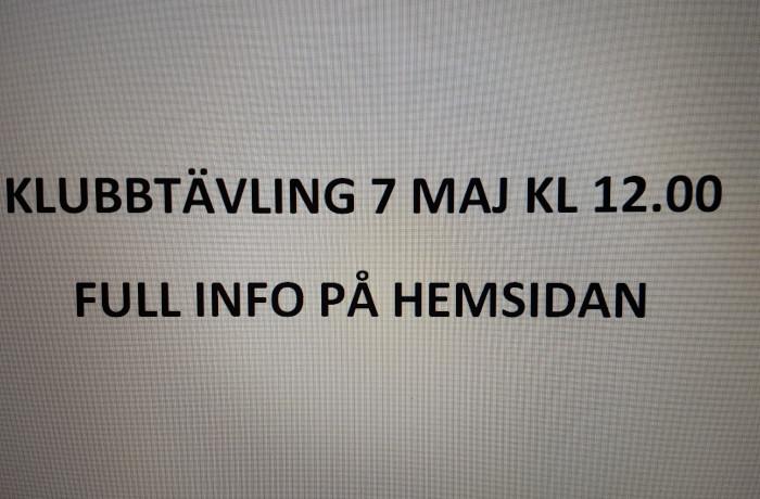 Klubbtävling 7 maj