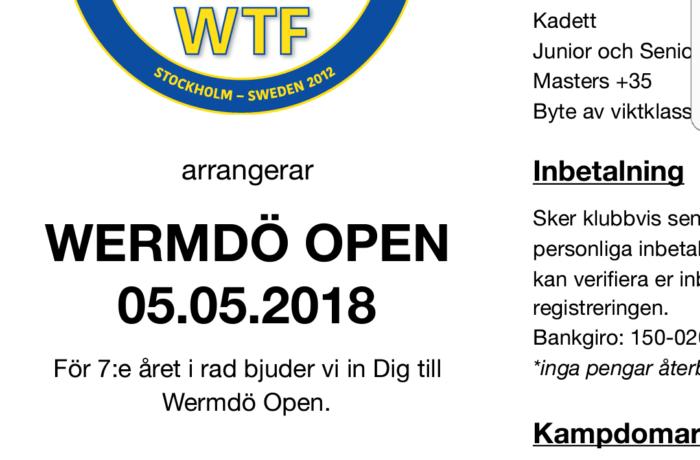 Wermdö Open 5 maj