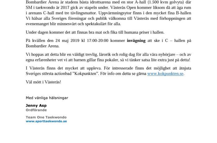 Västerås Open 25 maj