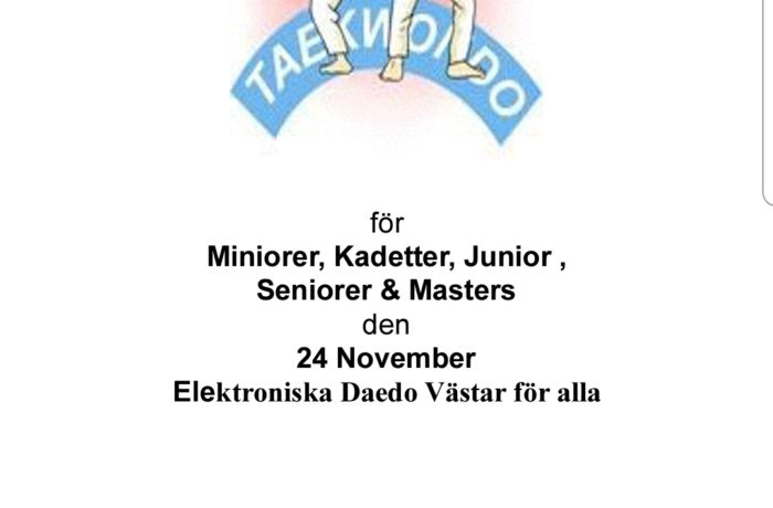 Anmälan Helsinborg Challenger 24 nov